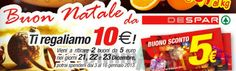 Despar ti regala due coupon del valore di 5 euro!