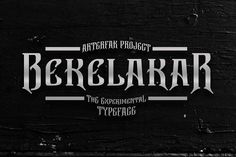 Bekelakar by Arterfak Project on @creativemarket