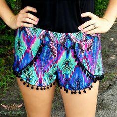 Coachella Shorts Pattern Women XS-XXL