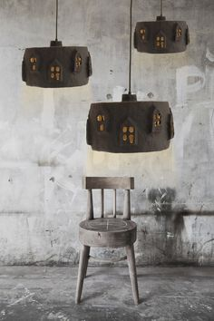 A must for a home goods store... City Lights Black. Paper mache lamp. Made by Marion Westerman