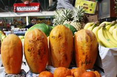 Some papaya at a local market in Mexico City, Mexico by Dana Lovallo -- National Geographic Your Shot