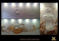 """Барельеф мастеров Veduta studio """"Наяда в золотой волне"""".Опасайтесь недобросовестных участников"""