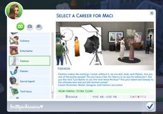 TS4MM — brittpinkiesims: WIP: Fashion Career EDIT: You...