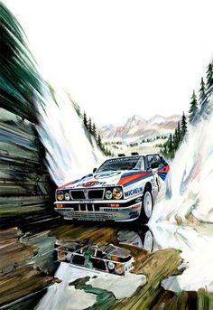 Lancia Delta WRC Biasion Affiche