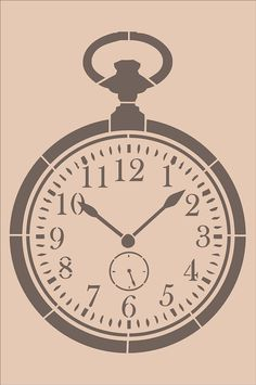 Vintage Pocket Watch Clock Stencil Design 11 by SuperiorStencils, $27.95