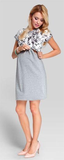 Grey Rose хлопковое платье для беременных и кормящих