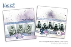 This project will show you how to create a beautiful double page scrapbook layout using the Indigo Dreams collection of SB Papers and stamps. Scrapbooking Ideas, Scrapbook Layouts, Scrapbook Pages, Indigo, Workshop, Butterfly, Stamp, Dreams, Paper