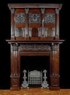 Fireplace Fender, Fireplace Grate, Cast Iron Fireplace, Home Fireplace, Fireplace Surrounds, Fireplace Ideas, Fireplaces, Fireplace Design, Victorian Furniture