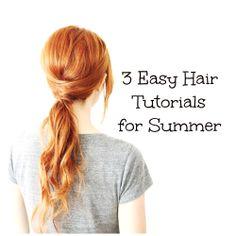 3 Easy Hair Tutorials for Summer #hair #tutorial Best Tutorials (http://brushlove.blogspot.com/2014/06/3-super-easy-hair-tutorials-for-summer.html)