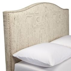 Script Headboard with Nailheads -from Target, king only $249!