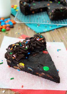 Triple Chocolate M  M Cookie Cake