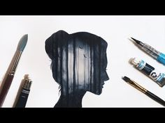 Simple Watercolour Forest Double Exposure Tutorial - YouTube