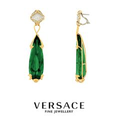Versace Fine Jewelry shows the new Haute Couture earrings, the ultimate luxury blended with fashion. #VersaceJewelry
