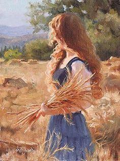 Abundant Hope by Sheri Dinardi Oil ~ 12 x 9 - painting Art Sketches, Art Drawings, Art Mignon, Classical Art, Fine Art, Renaissance Art, Aesthetic Art, Beautiful Paintings, Painting & Drawing