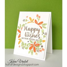 Wplus9 HAPPY WISHES Clear Stamps CLWP9HW Preview Image