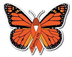 Fighting MS Butterfly MULTIPLE SCLEROSIS AWARENESS