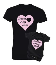 Mother and baby Daughter t-shirt and bodysuit baby grow black set. by MumKnowsBabyGrows on Etsy
