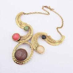 Letra C colgantes de la forma del collar de la vendimia exageró Gemas mujeres del diseño para Vender - La Tienda En Online IGOGO.ES
