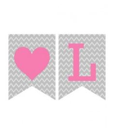 free printable: Valentines Banner--grey chevron with pink, red or aqua text  {DimplePrints}