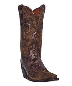 Another great find on #zulily! Bronze Penny Leather Cowboy Boot - Women by Dan Post #zulilyfinds