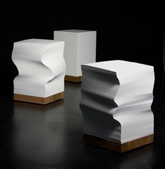 Munken Cube, a table/stool consisting of an oak base and 2200 sheets of paper.