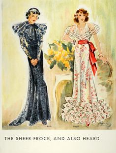 McCall 8271 and 8258 | 1935 evening dresses