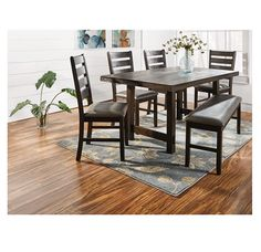 Shopko Kitchen Tables Dining tables chairs cascade faux marble 5 piece dining set a bench provides flexible seating at your dining table shopko workwithnaturefo