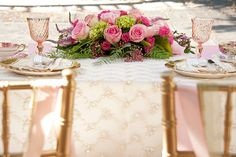 My chiavari chairs at Romantic Garden Styled Shoot at Villa Montalvo Wedding Chairs, Wedding Table, Chic Wedding, Real Couples, Sweetheart Table, Cake Table, Garden Styles, Vintage Pink, Wedding Centerpieces