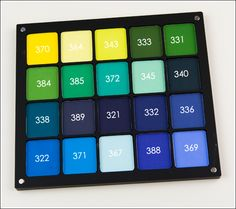 Inglot Matte Eyeshadows in #385, 372, 345, 340, 338, 389, 321 (Teals & Dark Blues)