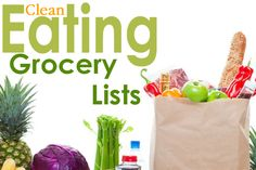 Clean Eating Grocery Lists for popular stores including Walmart, Costco, and Trader Joe's. There's one for beginners, too!