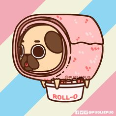 The official Puglie Pug website and store! Pug Kawaii, Cute Kawaii Animals, Kawaii Art, Kawaii Doodles, Cute Kawaii Drawings, Cute Animal Drawings, Pug Wallpaper, Wallpaper Iphone Cute, Pug Cartoon