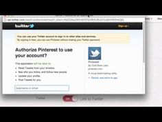 How to link twitter to your pinterest account/Connecting twitter and Pinterest.