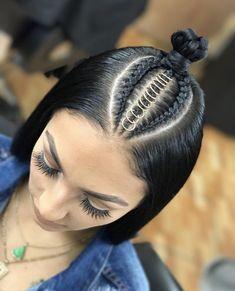 53 Box Braids Hairstyles That Rock - Hairstyles Trends Baddie Hairstyles, Box Braids Hairstyles, Straight Hairstyles, Girl Hairstyles, Hairstyle Ideas, Fast Hairstyles, Hairstyles 2018, African Hairstyles, Short Haircuts