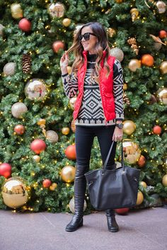 FAIRISLE SWEATER AT THE PALACE HOTEL | Sequins & Things