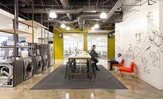 Samsung's Product Innovation Team amsung's Product Innovation Team, located in suburban San Jose. Architect Primo Orpilla of Studio O+A used an urban industrial esthetic that includes extensive white boards and company products to encourage informal idea sharing.