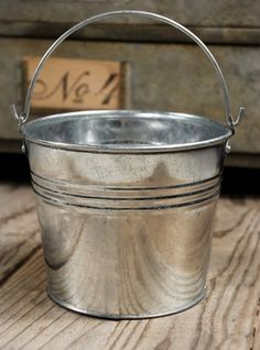 3.99 SALE PRICE! Its simple design and reflective tint make this pail perfect for embellishing your industrial-chic style home or rustic, outdoor wedding rec...