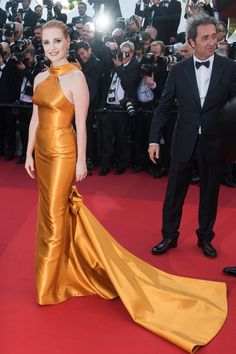 Cannes 2017 - Jessica Chastain in Armani Privé and Paolo Sorrentino - Day 7 (Cannes Film Festival 70th Anniversary Celebration)