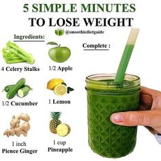 Weight Loss Drinks, Weight Loss Meal Plan, Weight Loss Smoothies, Easy Weight Loss, How To Lose Weight Fast, Healthy Weight Loss, Smoothie Diet, Healthy Smoothies, Healthy Drinks