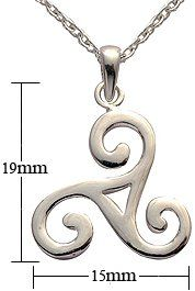 Silver Pendant - celtic design - Comes with 16' silver link chain. Beautifully designed and hand polished to a very high jewellery standard. delicately packed in a lovely velvet pouch. You can buy the matching earrings also: see menu below GlitZ JewelZ. $19.99