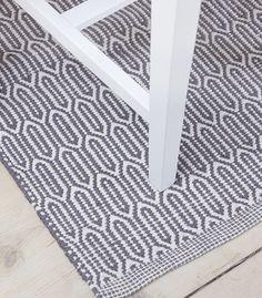 Scandinavian patterned grey floor runner & rug by Skandihome