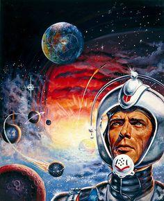 Weil am Rhein: Perry-Rhodan-Autor H. Retro Kunst, Retro Art, Retro Futurism Art, Science Fiction Kunst, Sci Fi Kunst, Sience Fiction, Perry Rhodan, Arte Sci Fi, 70s Sci Fi Art