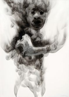 Smoke drawing by Diane Victor, South African 1964-