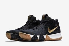 9dfa0dd38d0 Nike Kyrie 4 in Black Metallic Gold for Latest Release