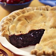 This vegan cherry pie is the perfect combination of sweet and tart - made just right with Earth Balance!