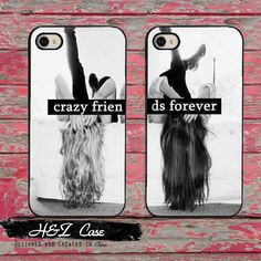 Set BFF Best Crazy Friends Forever Hard Mobile Phone Cases for iPhone 6 6 plus 5c 5s 5 4 4s Case Cover
