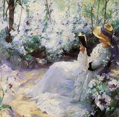 """""""Delicious solitude"""" 1909 by Frank Bramley (England 1857-1915) - Private Collection"""