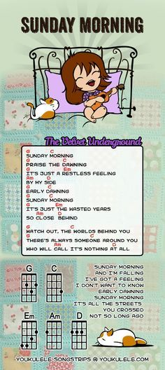 Sunday Morning - Velvet Underground · YOUkulele - UKULELE SONGSTRIP by Astriaha