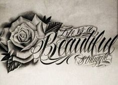 Chicano Lettering Source by Tatuajes Tattoos, Dope Tattoos, Girly Tattoos, Pretty Tattoos, Beautiful Tattoos, Flower Tattoos, Body Art Tattoos, New Tattoos, Sleeve Tattoos