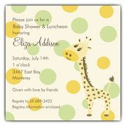 Giraffe Square Boy Baby Shower Invitations | PaperStyle