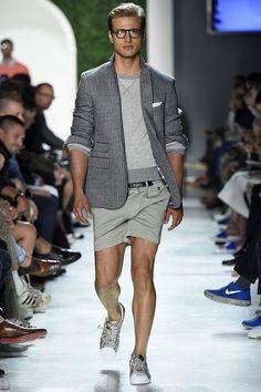 Michael Bastian Spring/Summer 2016 - New York Fashion Week: Men's Michael Bastian, Male Fashion Trends, Mens Fashion, High Fashion, Preppy Style, My Style, Short Models, Smart Styles, Spring Summer 2016